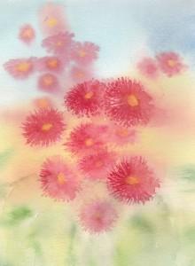 Red gum bush (watercolour)