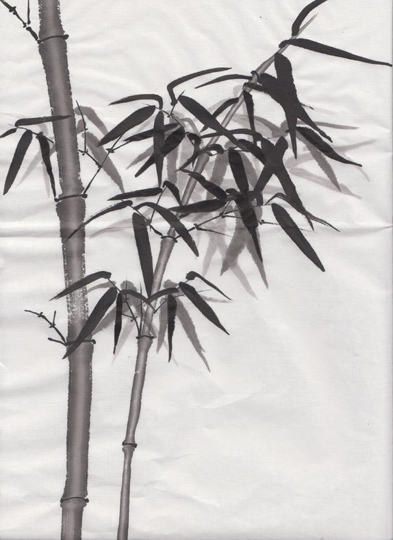 Bamboo Sticks (Chinese watercolour)