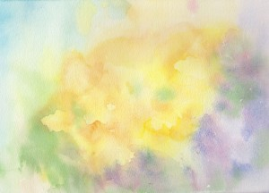 Primrose wash (Watercolour)