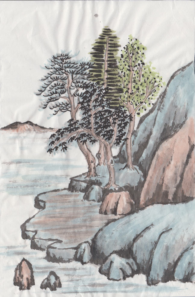 Chinese Landscape (Watercolour)