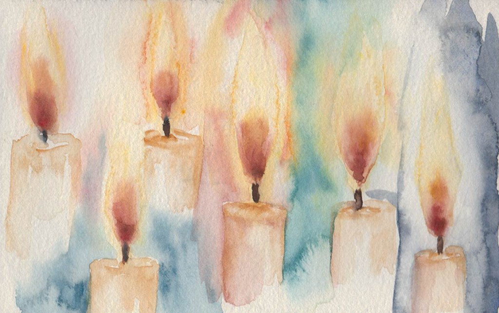 Candle Flames (Watercolour)