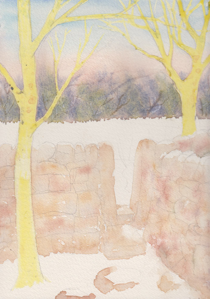 Dry Stone Wall (Watercolour)
