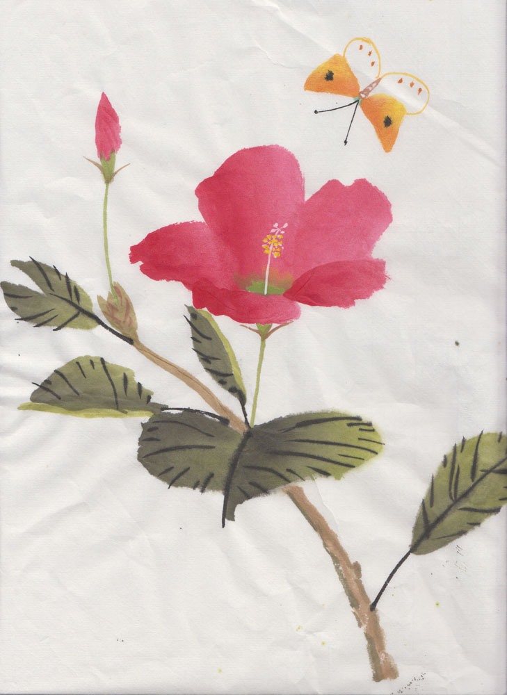 Pink Hibiscus (Watercolour)