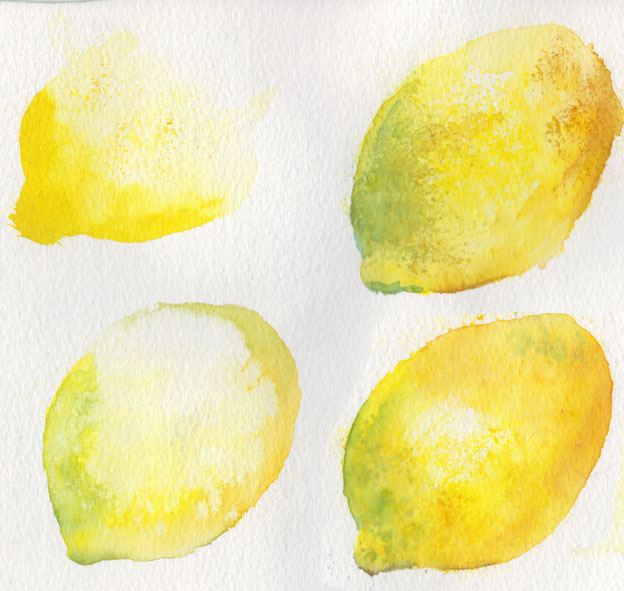 Lemon trials (Watercolour)