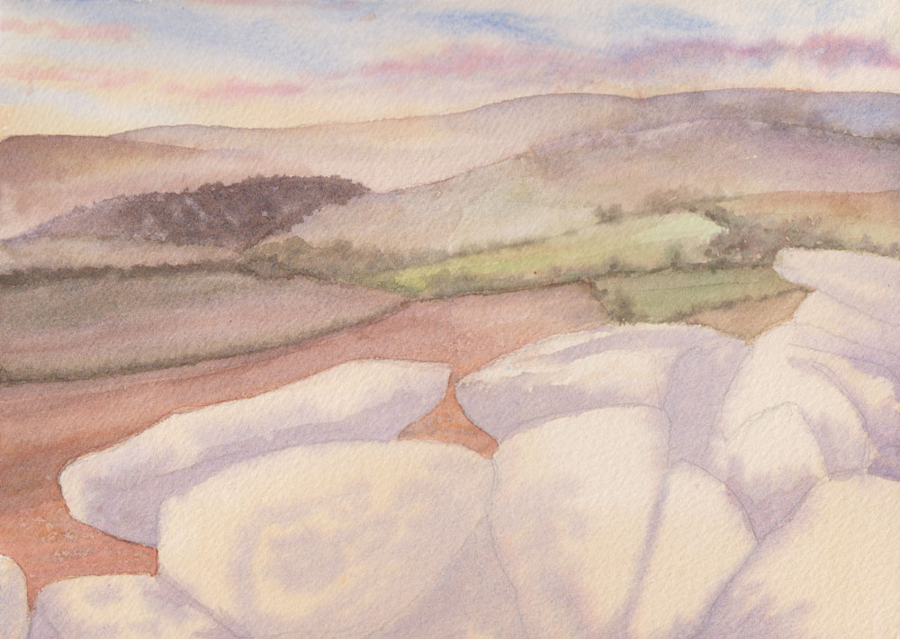 Distant Hills (Watercolour)