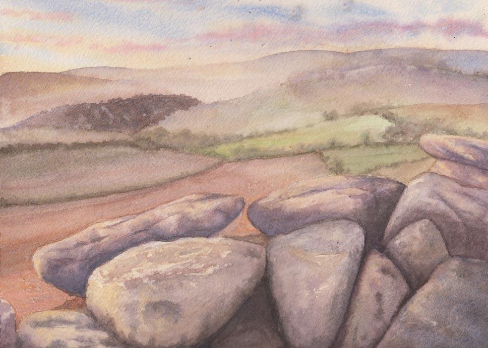 Distant Hills (Watercolour)