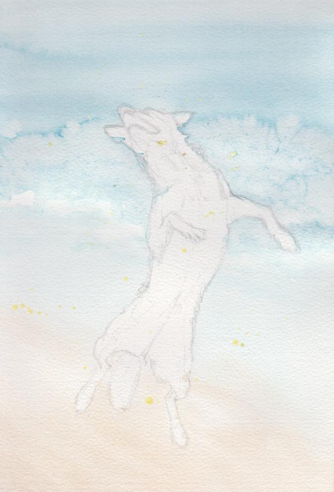 Flying Flint (Watercolour)