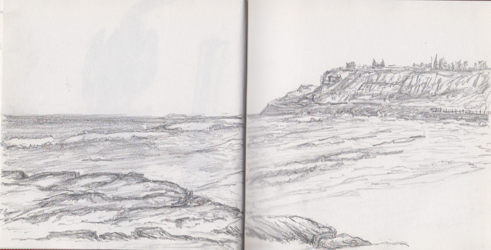 Newcastle Beach (Graphite Stick)