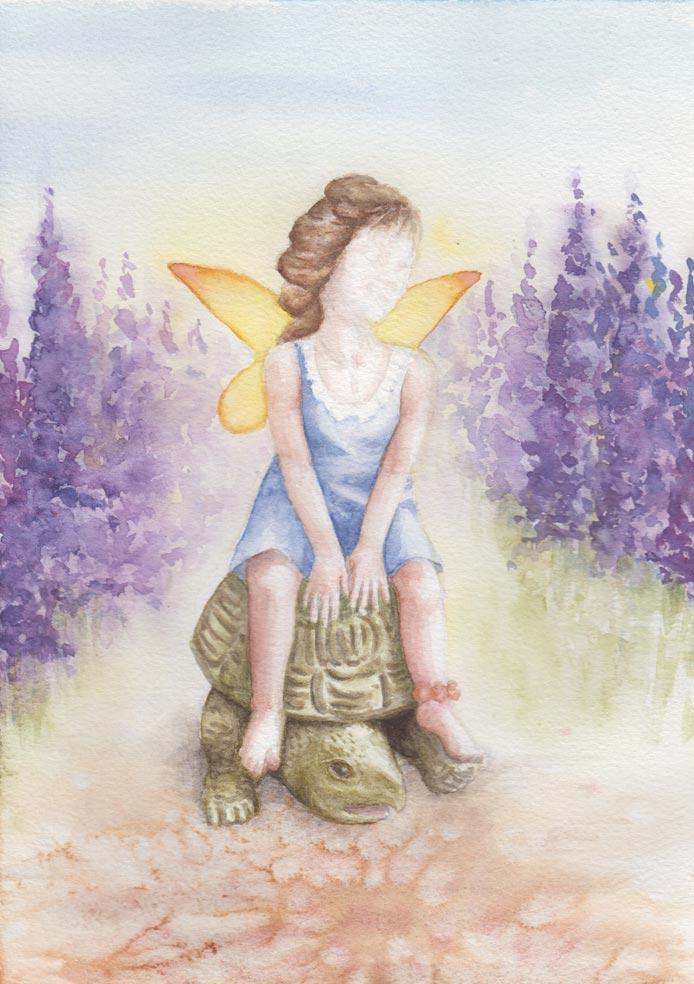 Tortoise & Fairy (Watercolour)