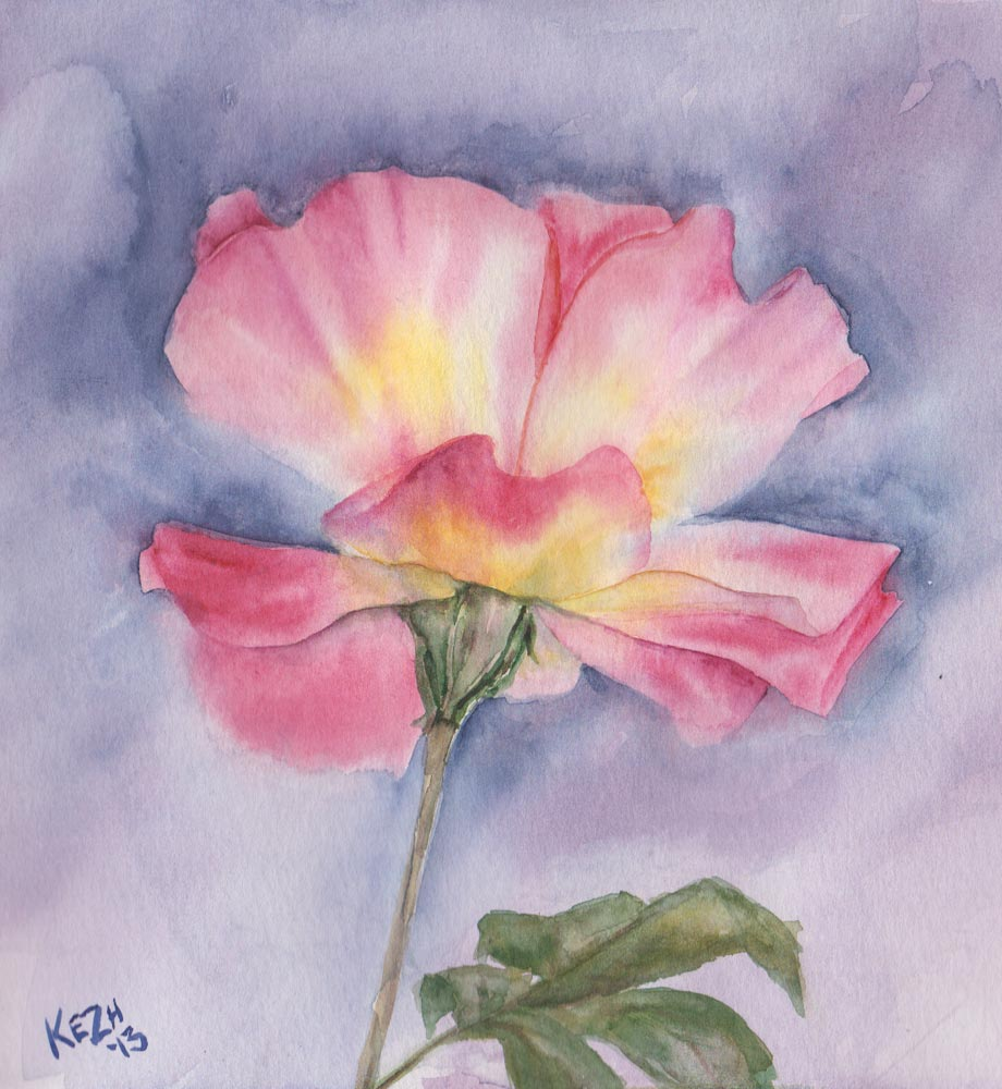 Vintage Rose (Watercolour)