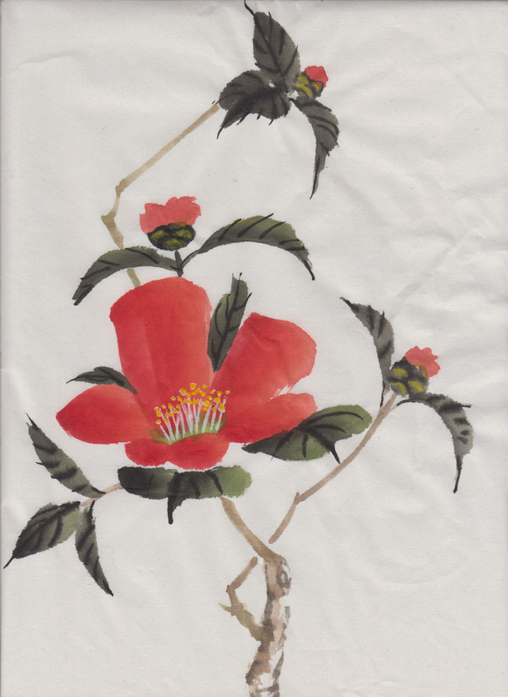 Camellias (Chinese Spontaneous Style)