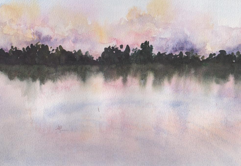 "Mackey Park ""Pond"" (Watercolour)"