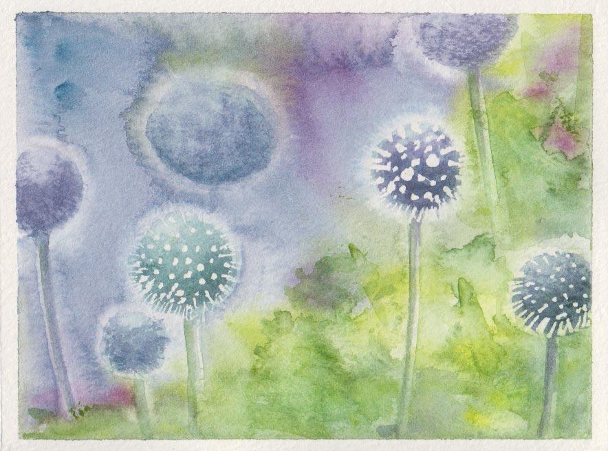 Globe Thistles (Watercolour)