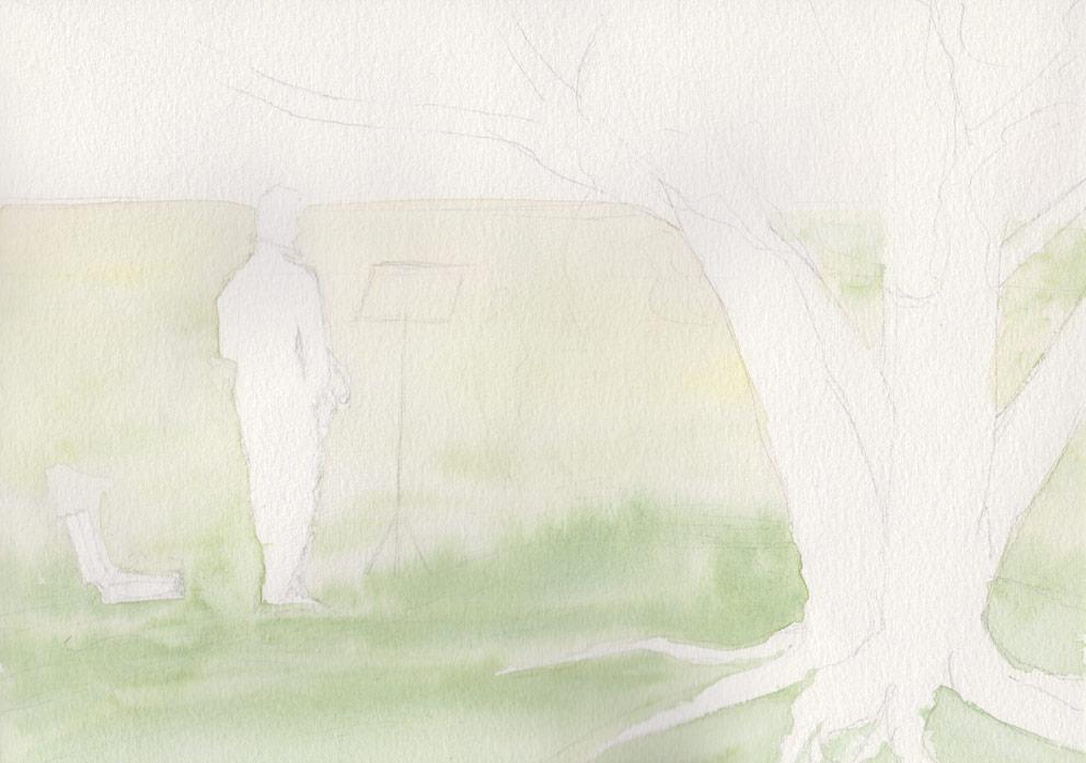 Morning Practise (Watercolour)