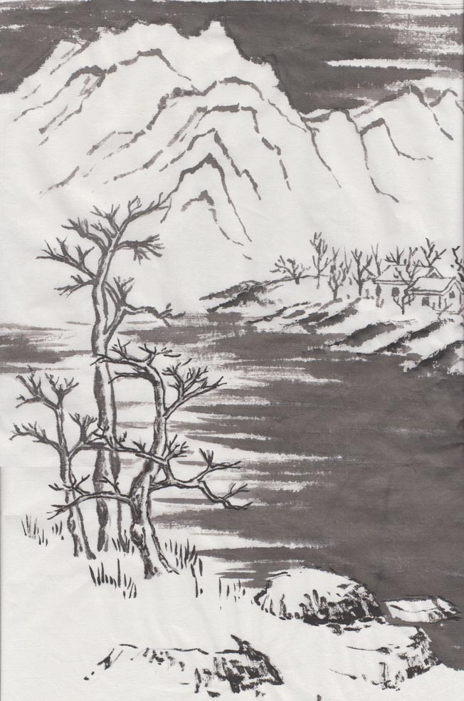 Winter Landscape (Chinese Spontaneous Style)