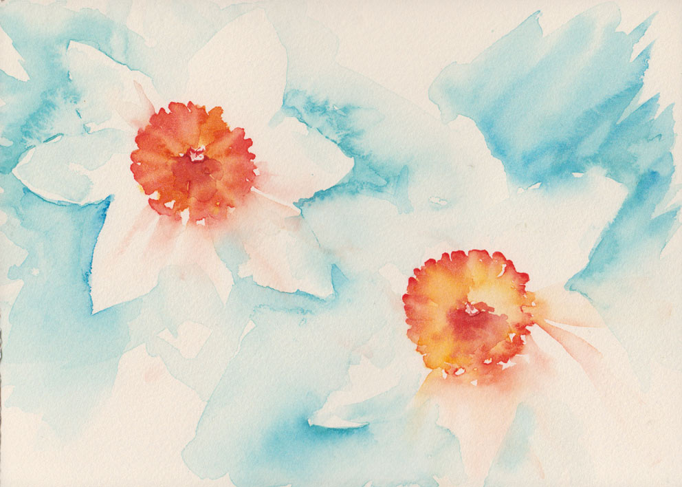 Loose Narcissi (Watercolour)