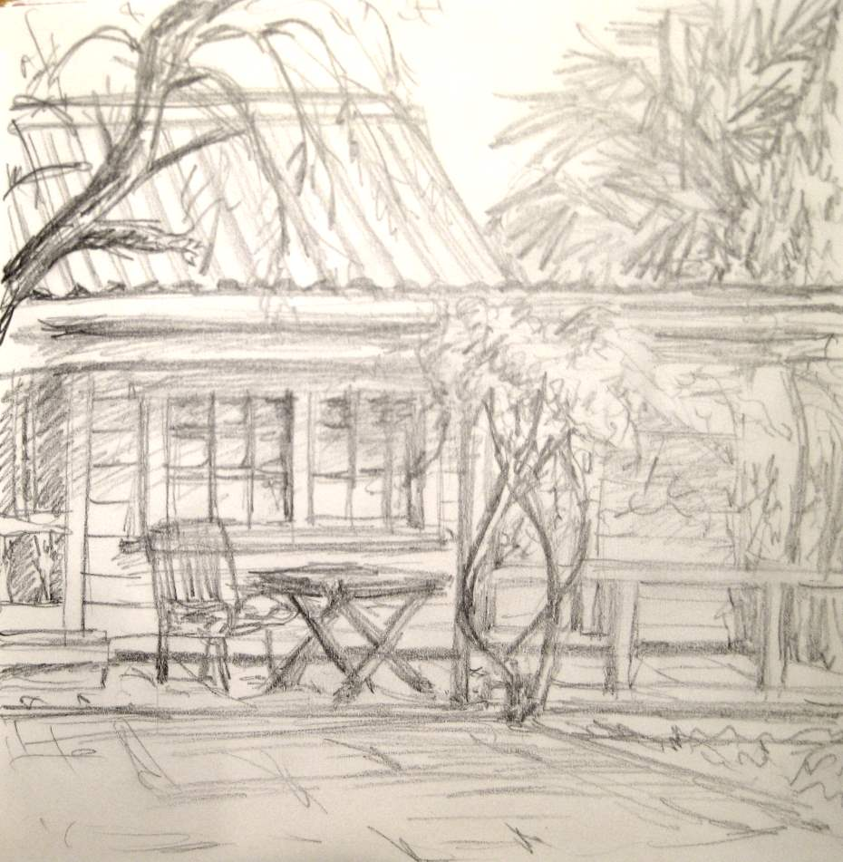 Hampden Cottage Veranda (Pencil)