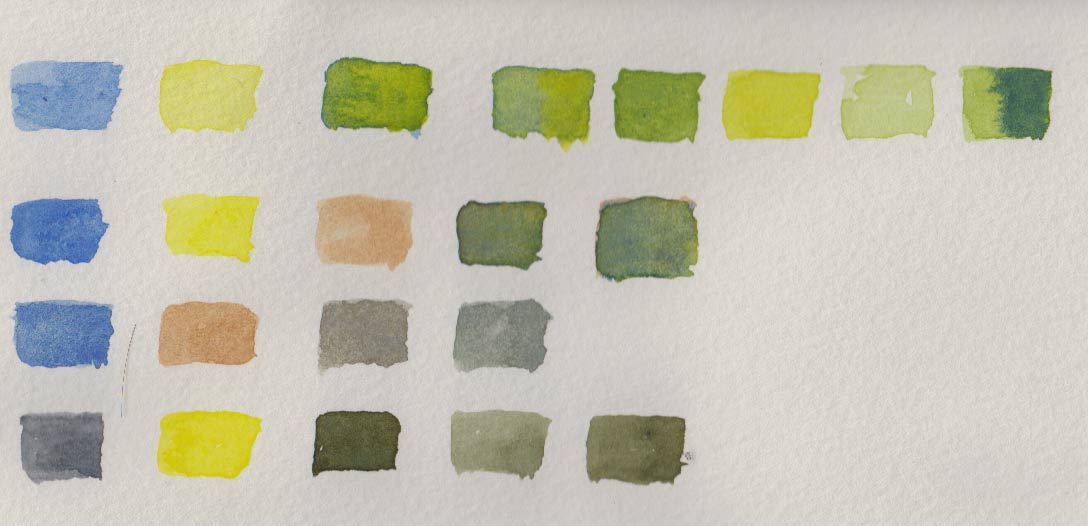 Mum's Greens (Watercolour)