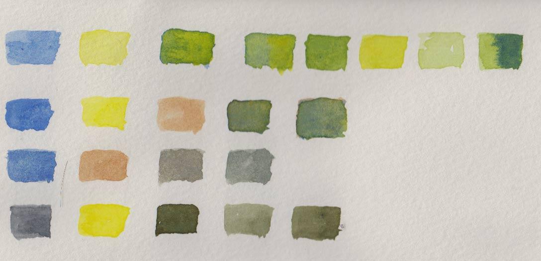 Mum's Greens (Watercolour)