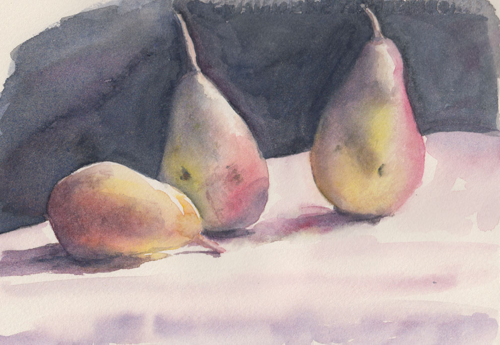 Pears (Watercolour)