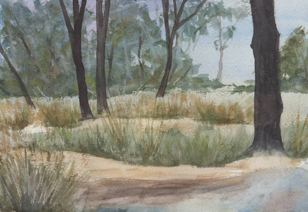 Sandstone Slopes (Watercolour)