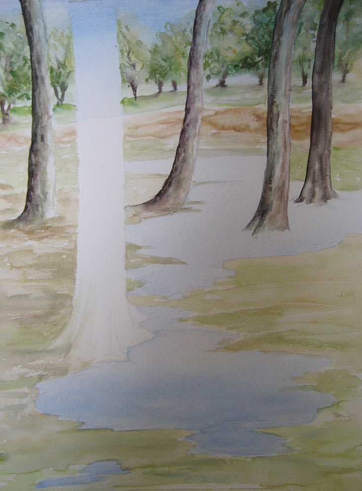 Puddles (Watercolour)