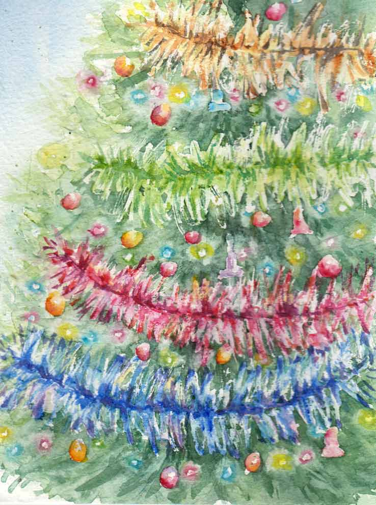 Christmas Tree (Watercolour)