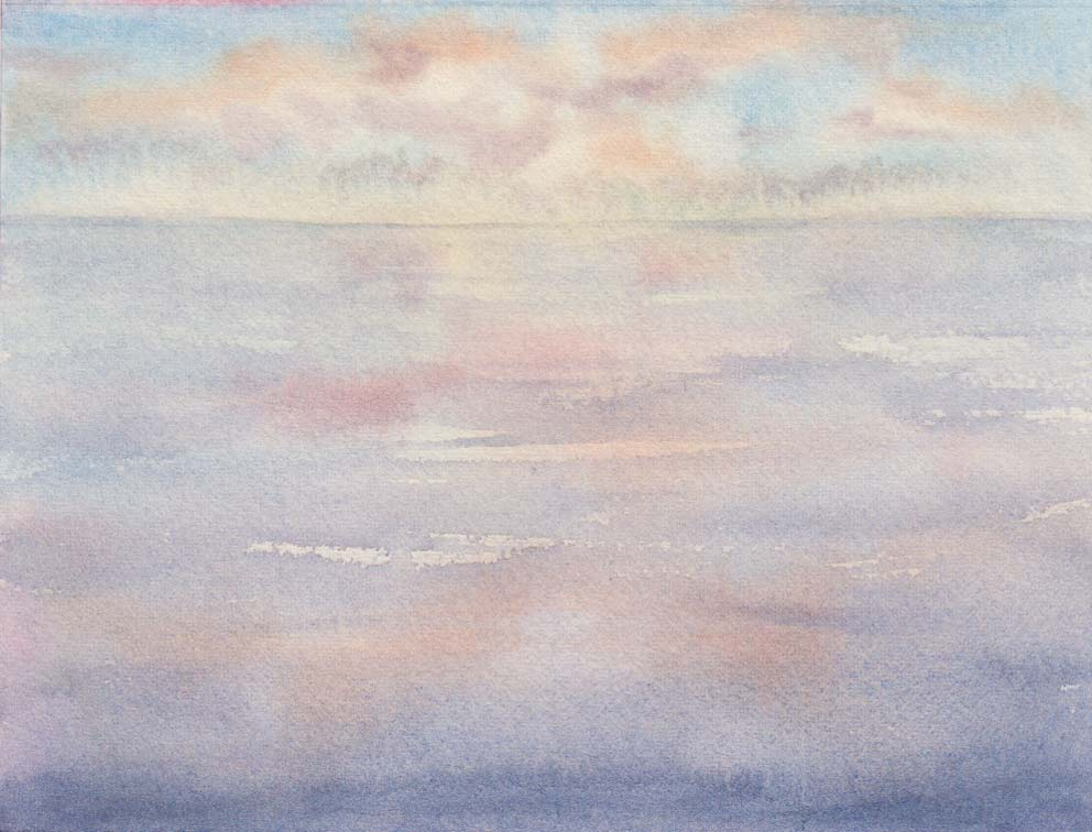 Sunset Sky No. 4 (Watercolour)