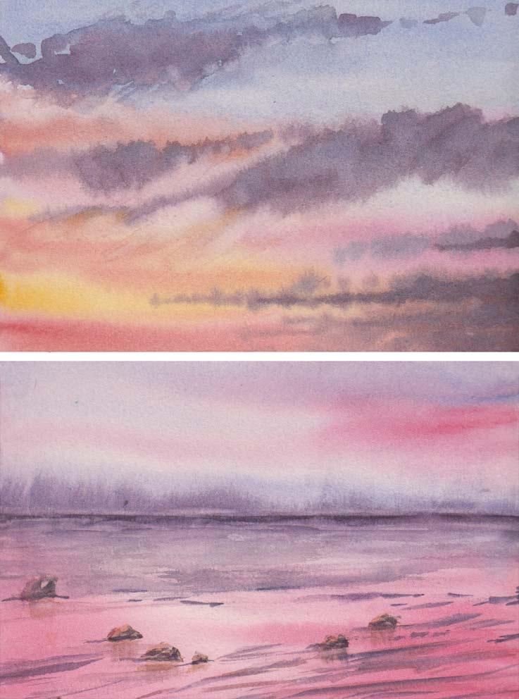 Sunset Skies (Watercolour)
