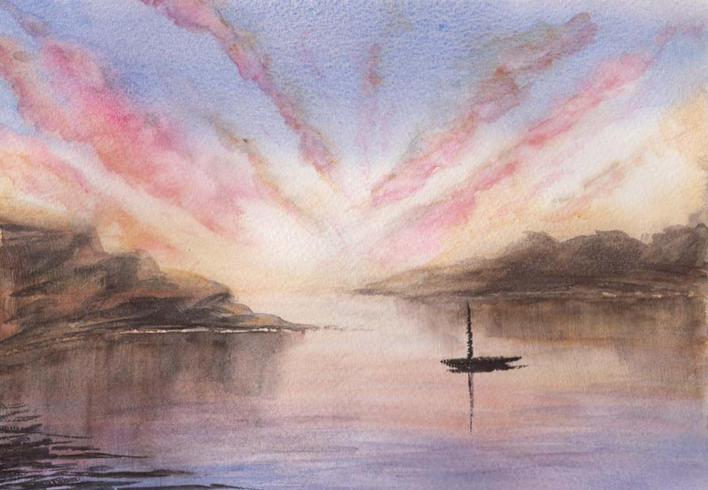 Safe Mooring (Watercolour)