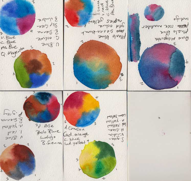 Colour Planets (Watercolour)