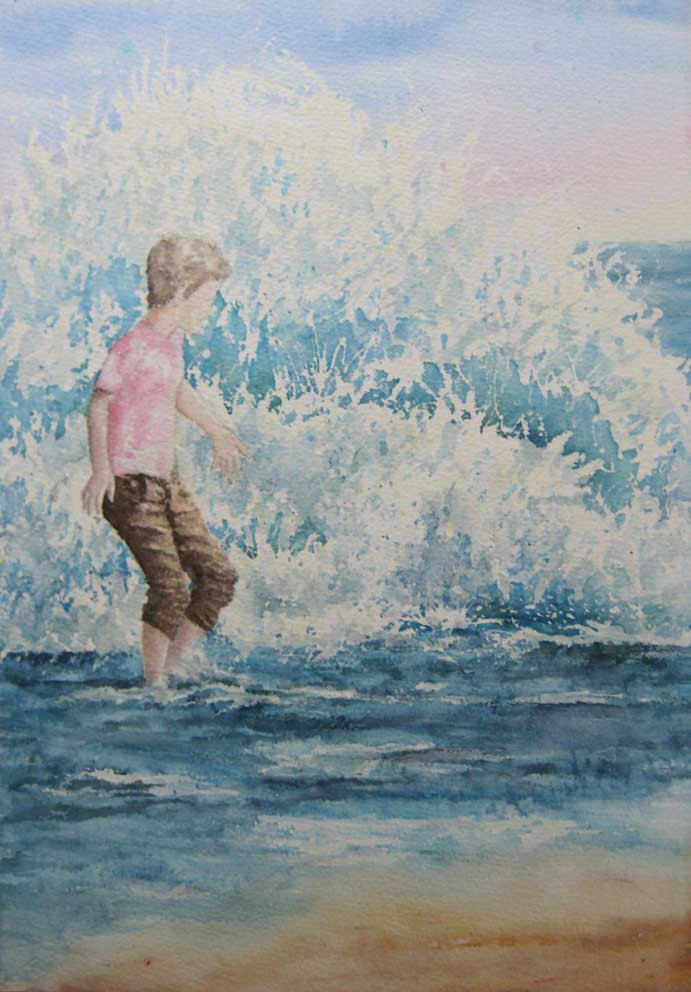 n Unexpected Wave (Watercolour)