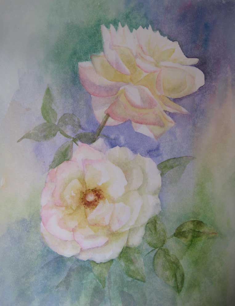 Soft Summer Roses (Watercolour)
