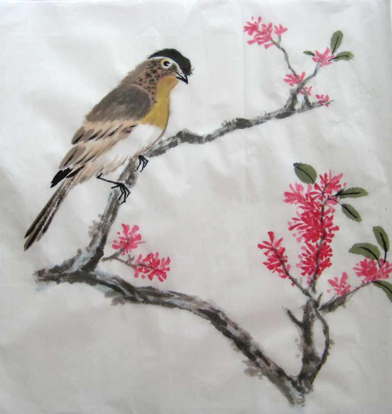 Yellow Cheeked Tit (Chinese Spontaneous Style)