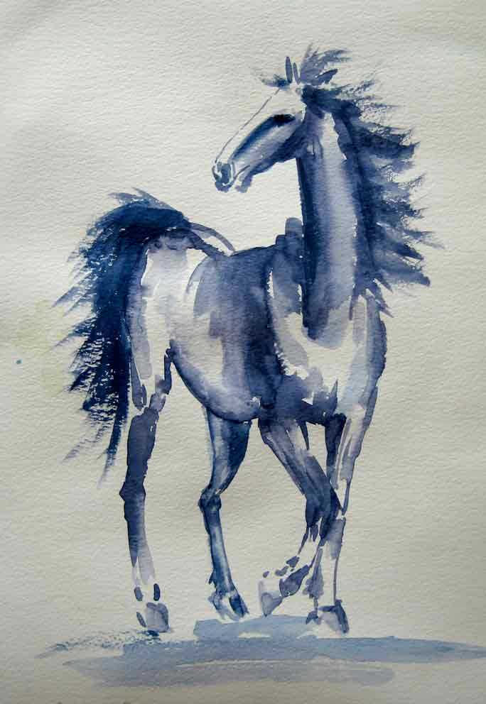 Loose Painted Horse (Watercolour)