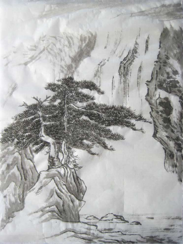 Summer Landscape (Chinese Spontaneous Style)