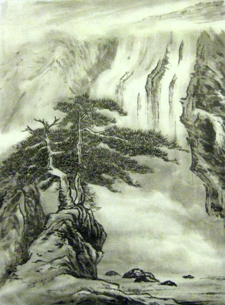 Summer Landscape (Chinese Spontenous Style)